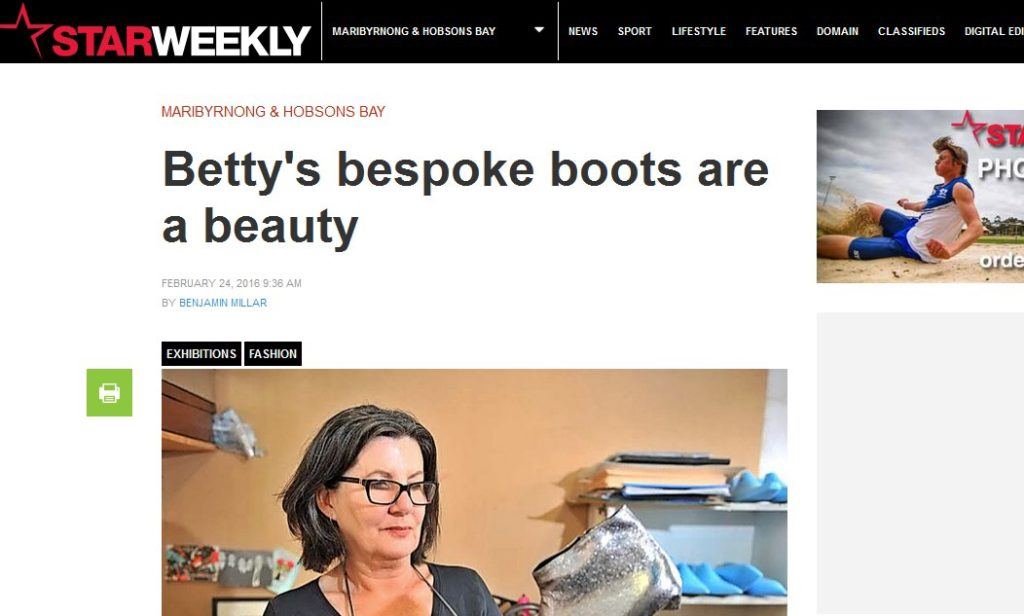 Bettybossyboots in the star weekly